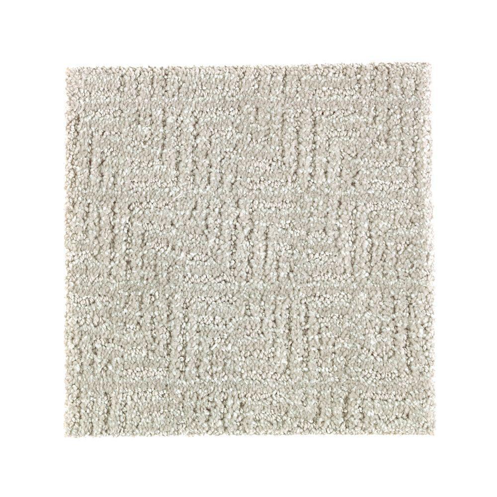 Carpet Sample - Scarlet - Color Storm Tossed Pattern 8 in. x 8 in.