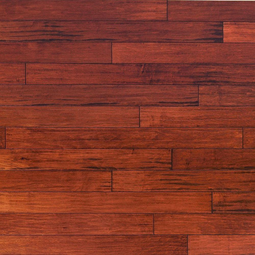 Heritage mill scraped vintage maple ginger 3 4 in thick x for Solid hardwood flooring