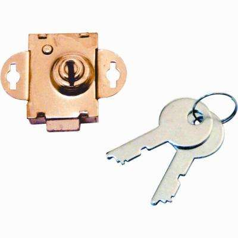 Brass-Plated Steel Mailbox Lock