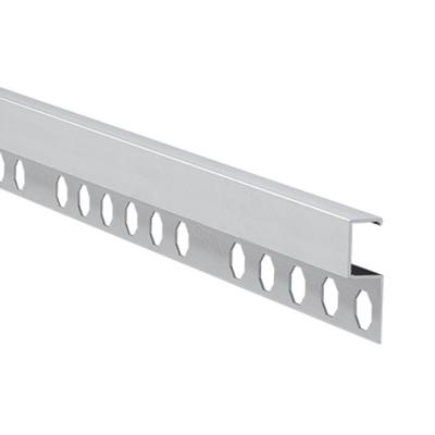 Novolistel 4 Matt Silver 3/8 in. x 98-1/2 in. Aluminum Tile Edging Trim