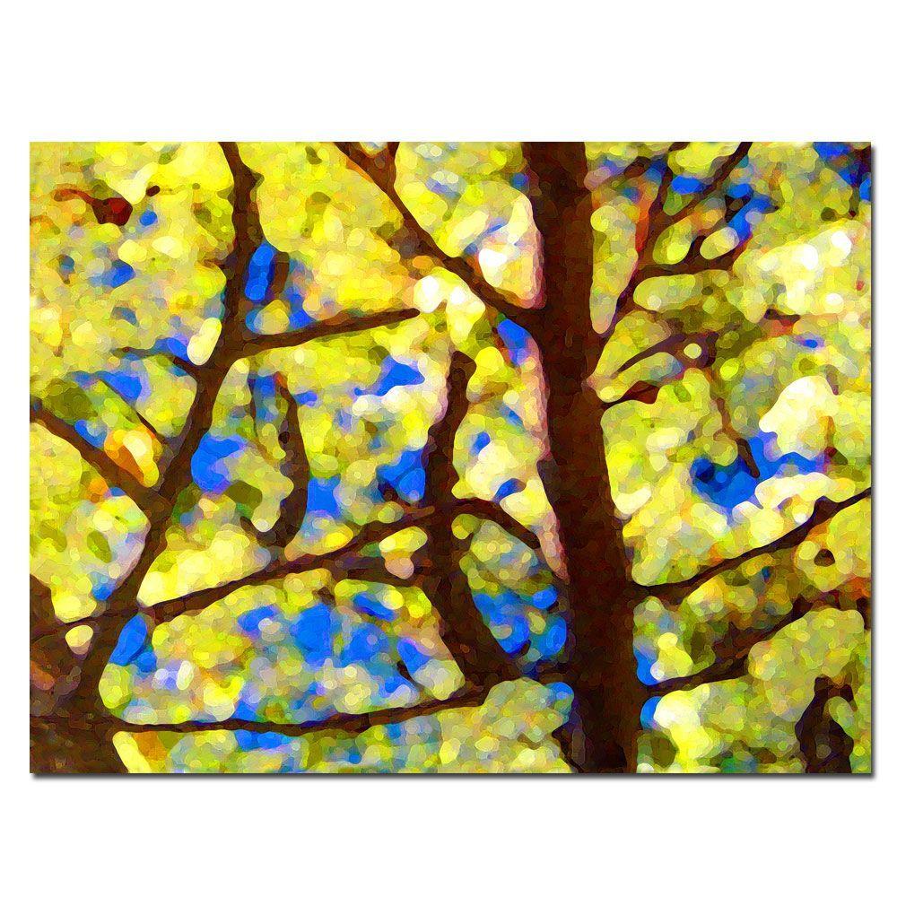 Trademark Fine Art 26 in. x 32 in. Spring Tree Canvas Art