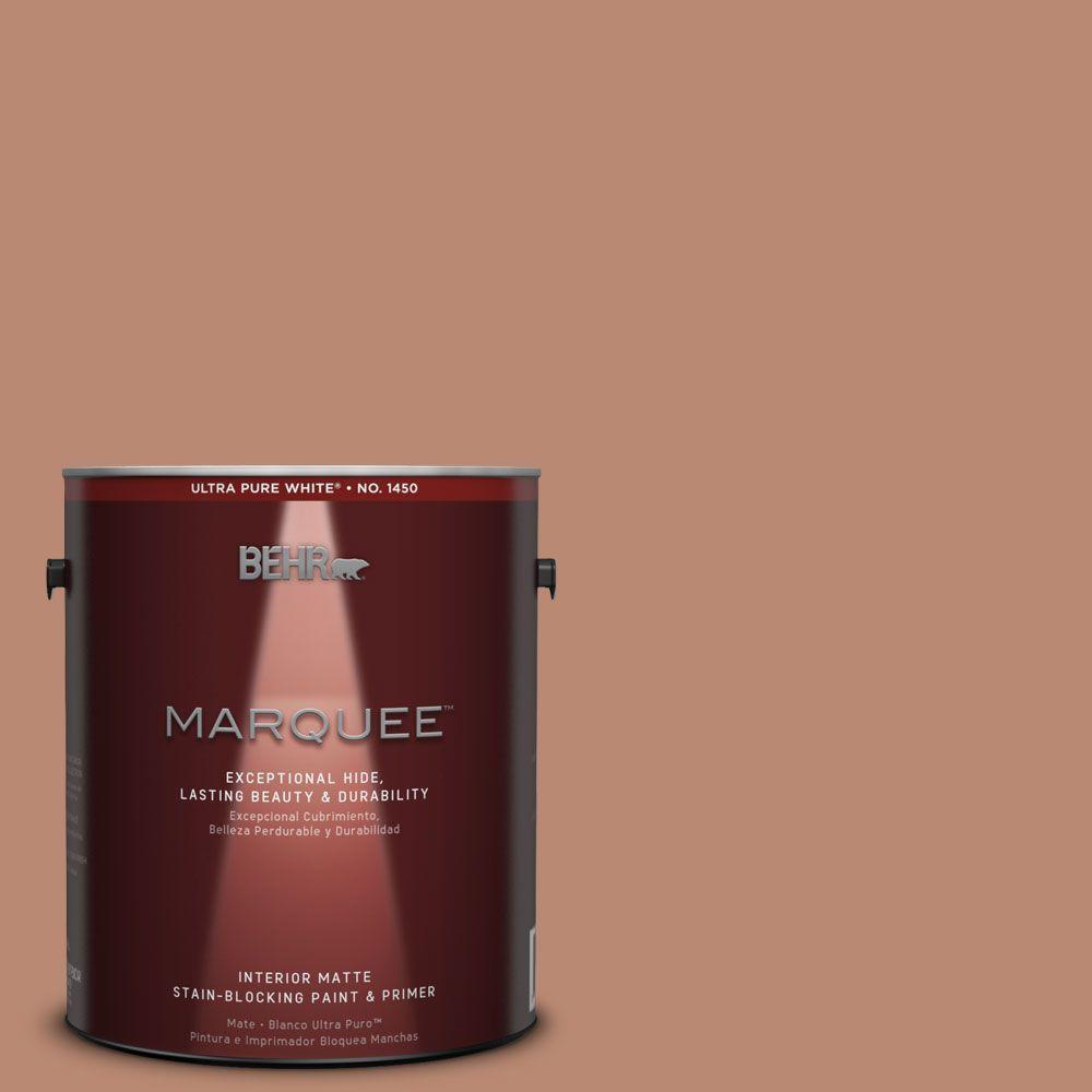 1 gal. #MQ1-29 Carmelite One-Coat Hide Matte Interior Paint