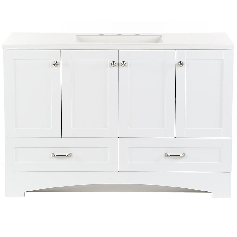 Glacier Bay Lancaster 48 in. W x 18.75 in. D Bathroom ...