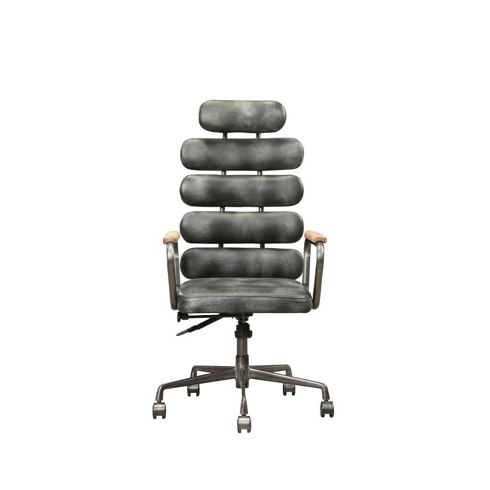 Calan Vintage Black Top Grain Leather Executive Office Chair