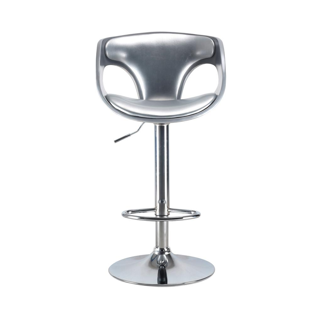 Merlyn 42.5 in. Silver Swivel Bar Stool