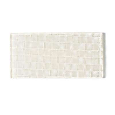 Metro Cubes Creme Subway 3 in. x 6 in. Glass Wall Tile (1 sq. ft. / pack)