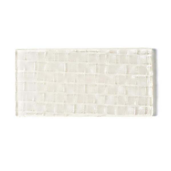 Metro Cubes Creme Subway 3 in. x 6 in. Textured Glass Wall Tile (1 Sq. ft./Pack)