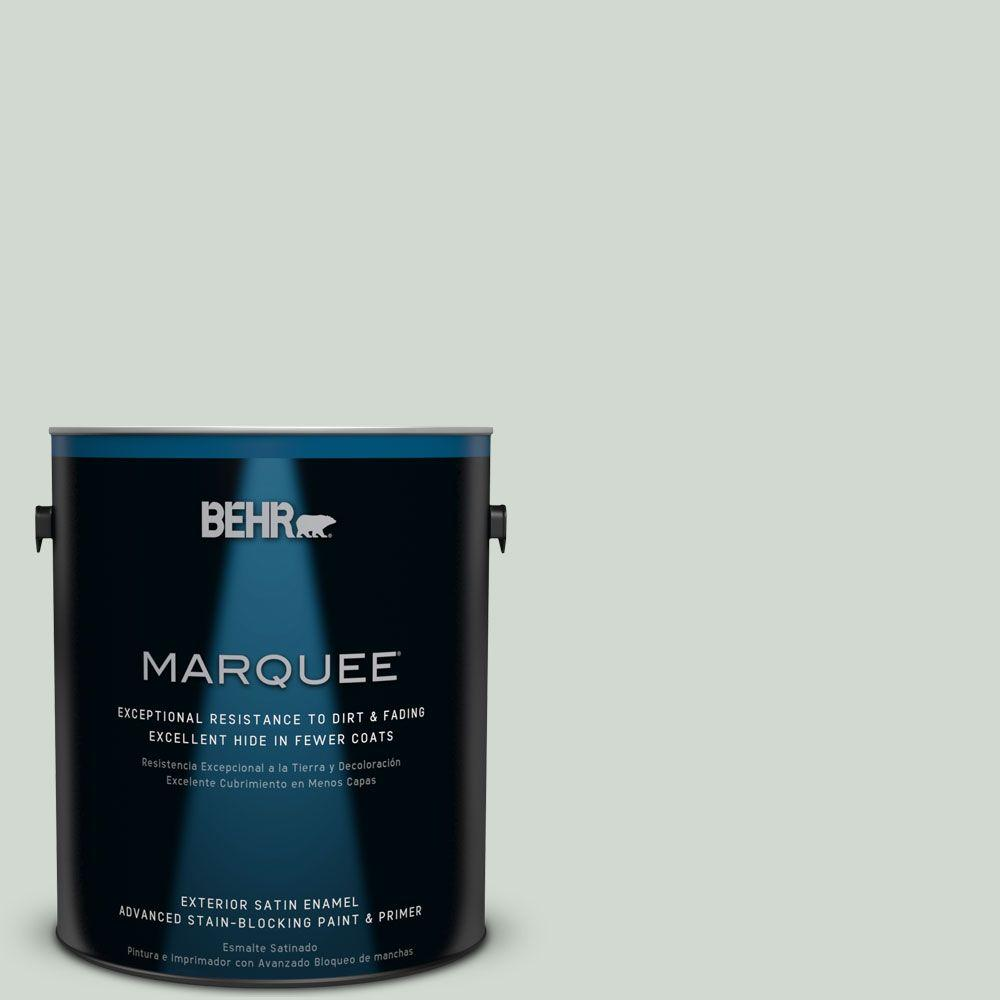 BEHR MARQUEE Home Decorators Collection 1-gal. #HDC-CT-23 Wind Fresh White Satin Enamel Exterior Paint