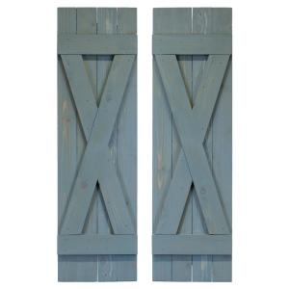 Ply Gem Shutters and Accents VIN4C1555 BLU 4 Board Closed Board /& Batten Shutter Coastal Blue
