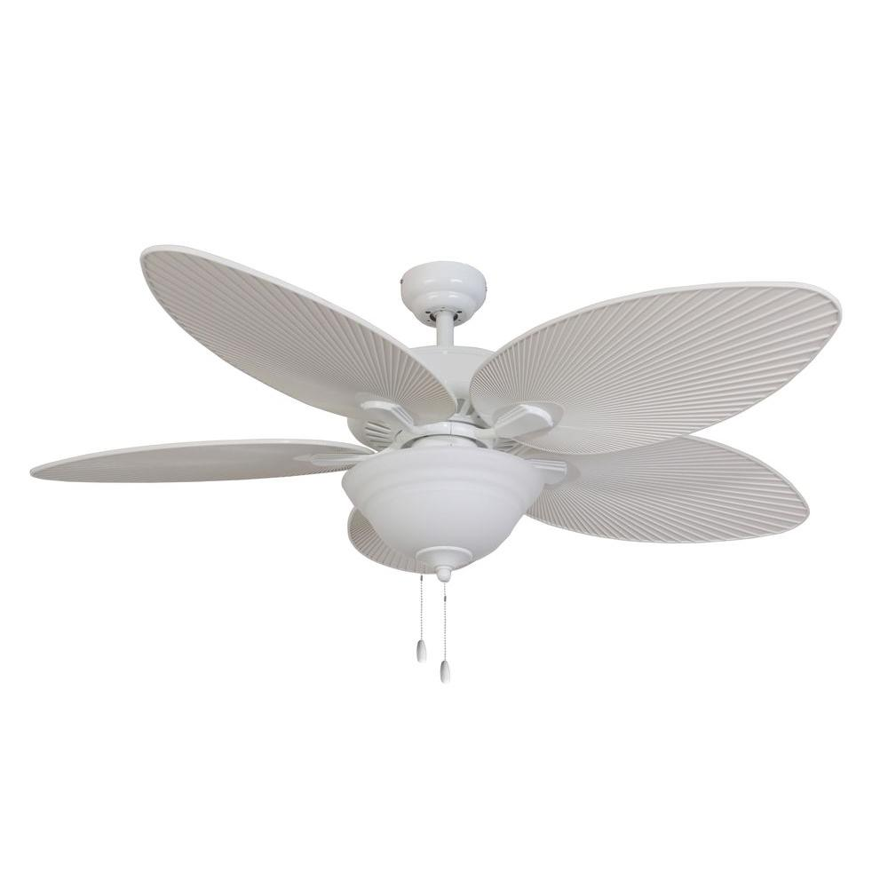 Home Depot Ceiling Fan Blades: Sahara Fans Tortola 52 In. White Ceiling Fan-10059