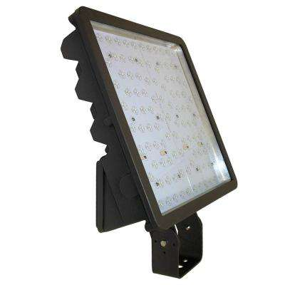 262-Watt Bronze Integrated LED Outdoor Flood Light Bracket Mount