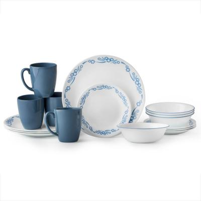 Classic 16-Piece Cornflower Dinnerware Set