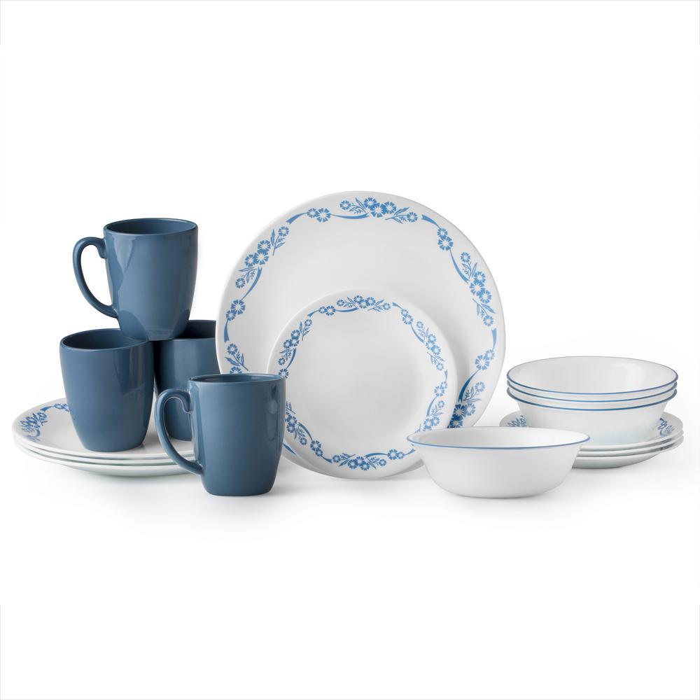 Classic 16-Piece Cornflower Dinnerware Set