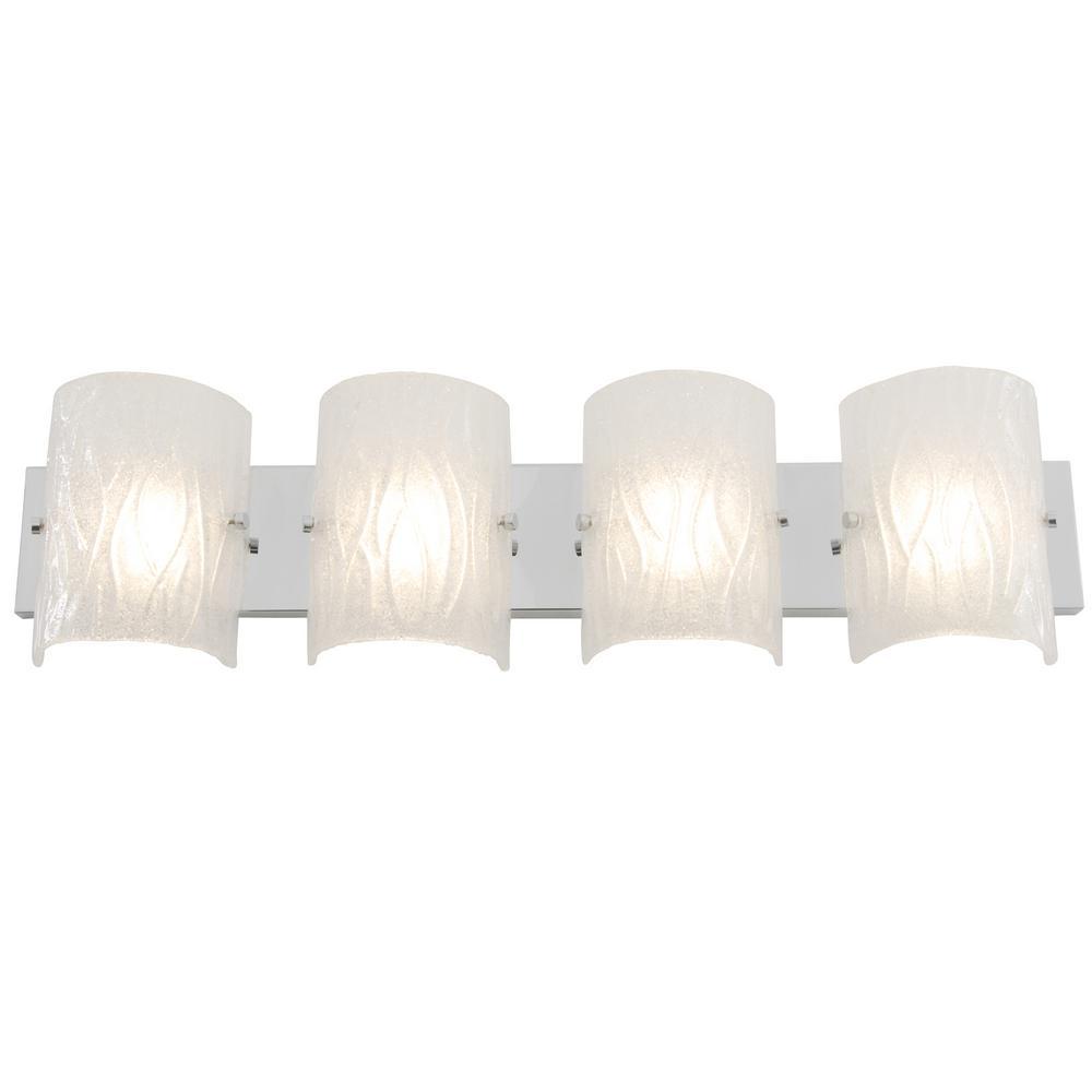 Jinko Led 5w Integrated Ceiling Lamp Bedroom Kitchen: Varaluz Rogue Decor Brilliance 7.5-Watt Chrome Integrated