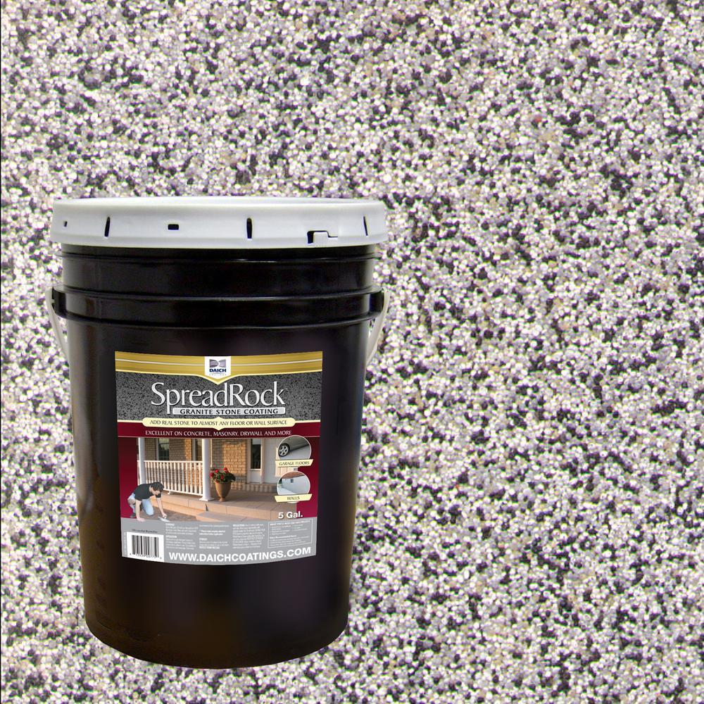 SpreadRock Granite Stone Coating 5 gal. Flint Gray Satin Interior/Exterior Concrete Resurfacer and Sealer