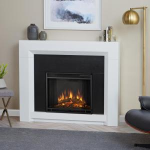 ventless electric fireplace in white - Free Standing Electric Fireplace