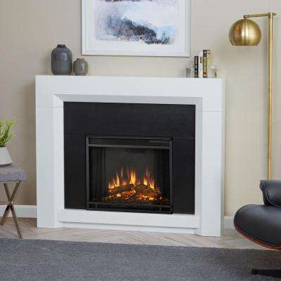 Colton 48 in. Ventless Electric Fireplace in White