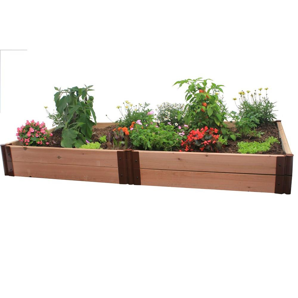 Frame It All Two Inch Series 4 ft. x 8 ft. x 12 in. Cedar Raised Garden Bed Kit