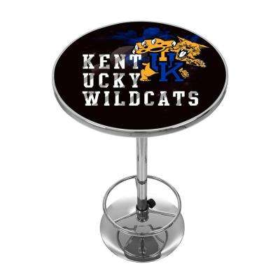 University of Kentucky Smoke Chrome Pub/Bar Table