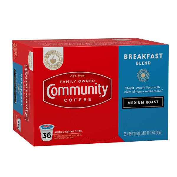 Reviews For Community Coffee Breakfast Blend Medium Roast Single Serve Cups 144 Pack 16314 The Home Depot