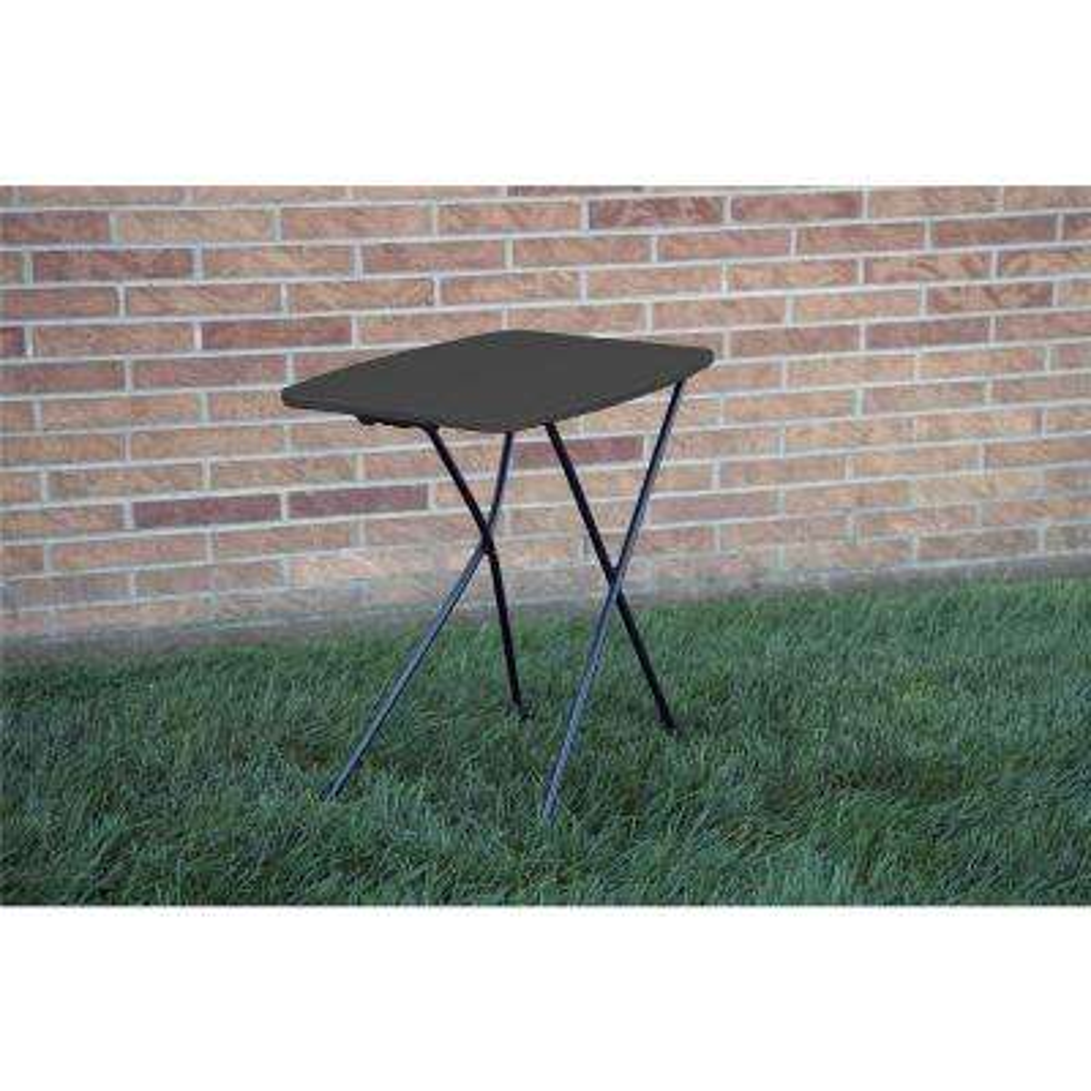 Black Adjustable 2-Pack Folding Tailgate Table