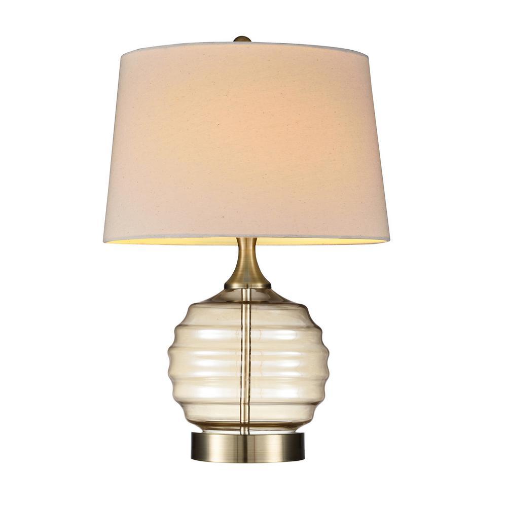 Tuscan Sun Gold Glass Table Lamp