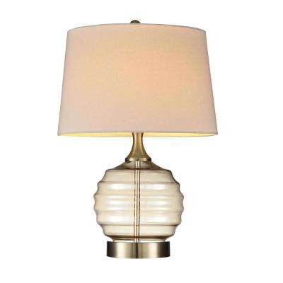 22.5 in. Tuscan Sun Gold Glass Table Lamp