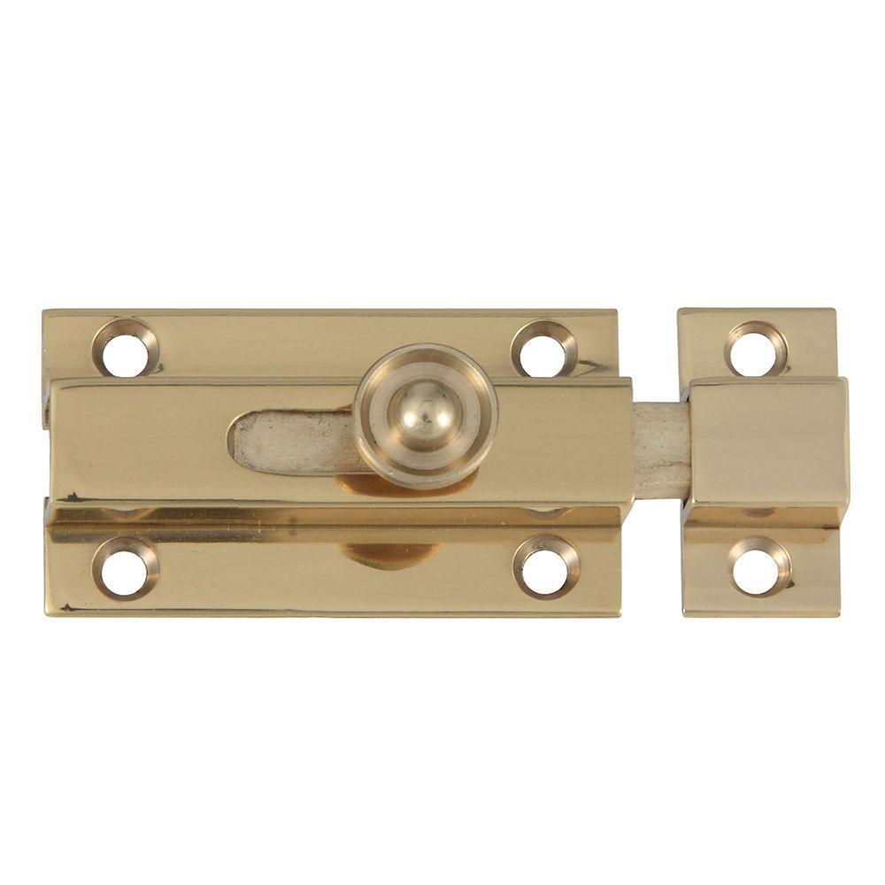 Stanley-National Hardware 1-3/4 in. Bright Brass Slide Bolt
