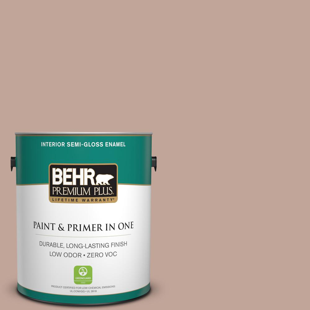 1-gal. #ICC-53 Cozy Blanket Zero VOC Semi-Gloss Enamel Interior Paint