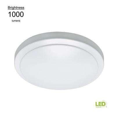 Motion Sensor Motion Controlled Lighting 12 in. Round White 60 Watt Equivalent Integrated LED Flushmount
