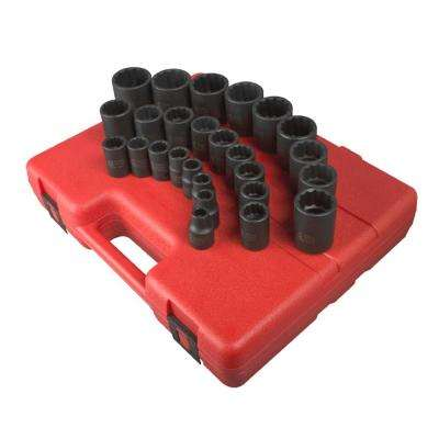 12-Point Metric Impact Socket Set