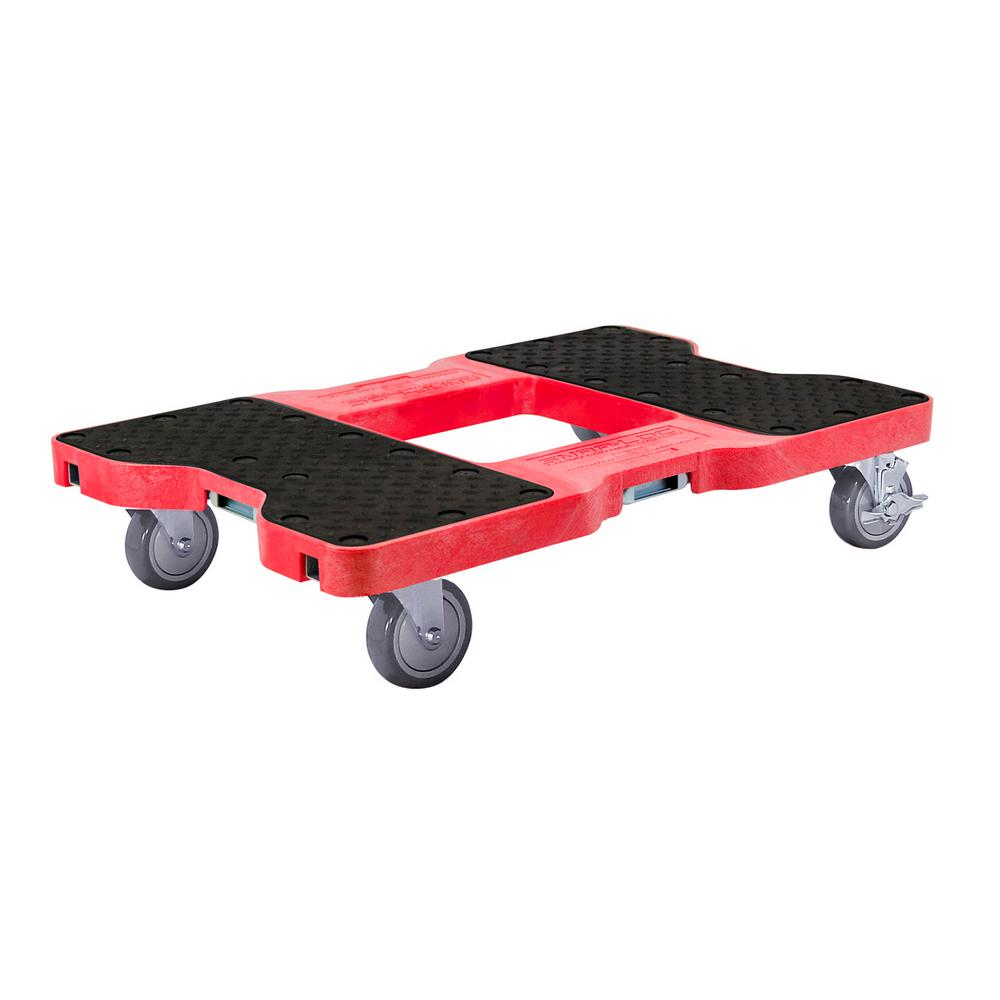 SNAP-LOC 1500 lbs. Capacity Industrial Strength Professional E-Track Dolly in Red