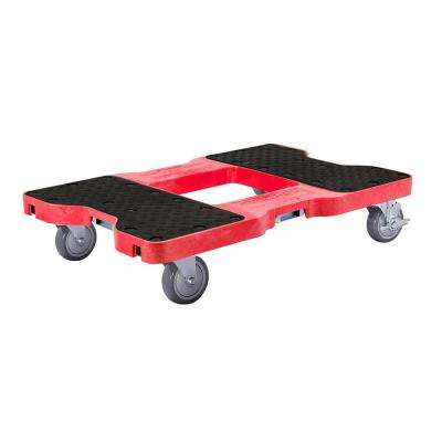 1500 lbs  Capacity Industrial Strength Professional E-Track Dolly in Red
