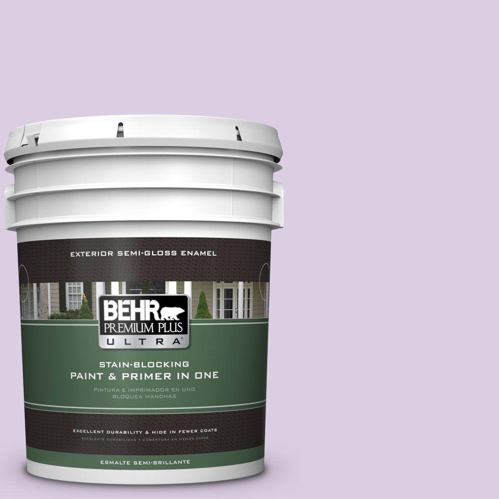 BEHR Premium Plus Ultra 5-gal. #660C-2 Violet Mist Semi-Gloss Enamel Exterior Paint
