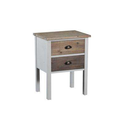 Brighton Neutral White and Driftwood Side Table