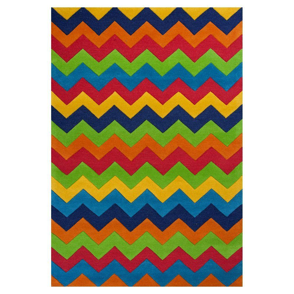 Kas Rugs Chevron Play Multi 5 ft. x 7 ft. 6 in. Area Rug