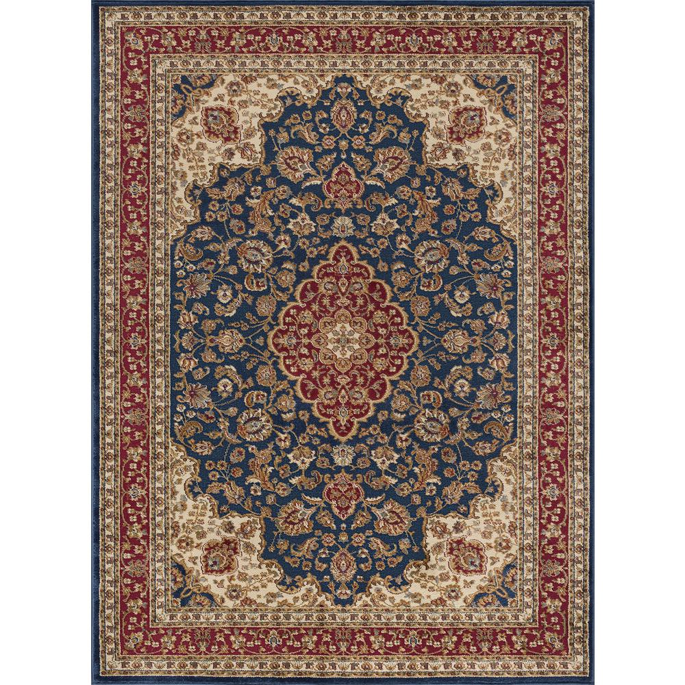 tayse rugs sensation navy 11 ft x 15 ft transitional area rug sns4787 11x15 the home depot. Black Bedroom Furniture Sets. Home Design Ideas