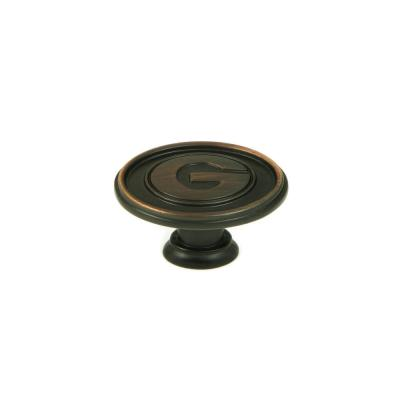 NCAA Georgia 1-1/2 in. Oil Rubbed Bronze Oval Cabinet Knob (25-Pack)