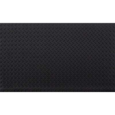 Black 24 in. x 36 in. Anti-Fatigue Vinyl Foam Commercial Mat