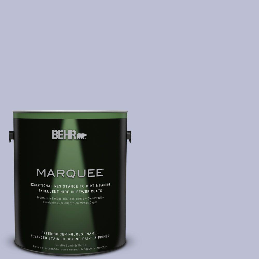 BEHR MARQUEE 1-gal. #PPU15-15 Sweet Juliet Semi-Gloss Enamel Exterior Paint, Blues