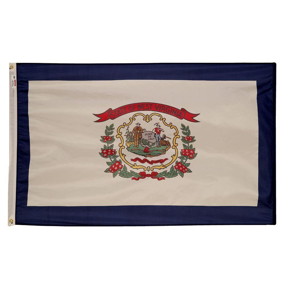 3 ft. x 5 ft. Nylon West Virginia State Flag