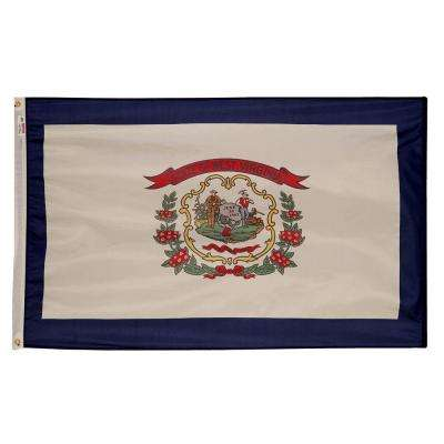 3 ft. x 5 ft. Nylon West Virginia State Flag
