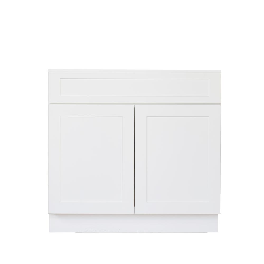Bremen Ready to Assemble 30x34.5x24 in. Shaker Base Cabinet with 2