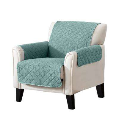 Laurina Collection Aqua Stonewashed Reversible Chair Furniture Protector