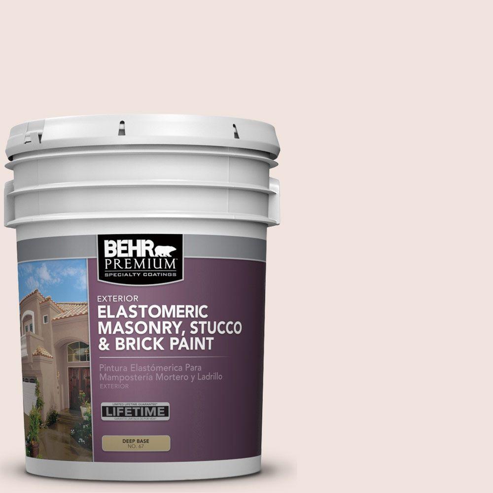 5 gal. #MS-01 White Onyx Elastomeric Masonry, Stucco and Brick Exterior Paint