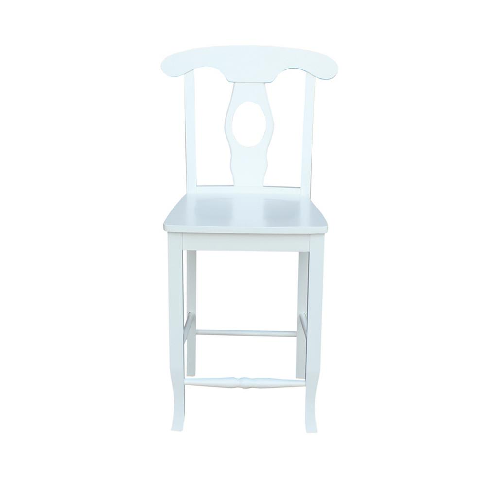 International Concepts 24 In Empire Pure White Counter Stool S08