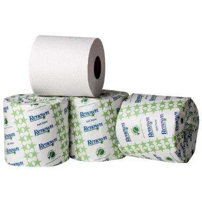 Soft White Toilet Paper 2-Ply (500 Sheets per Roll, 96 Rolls per Pack)
