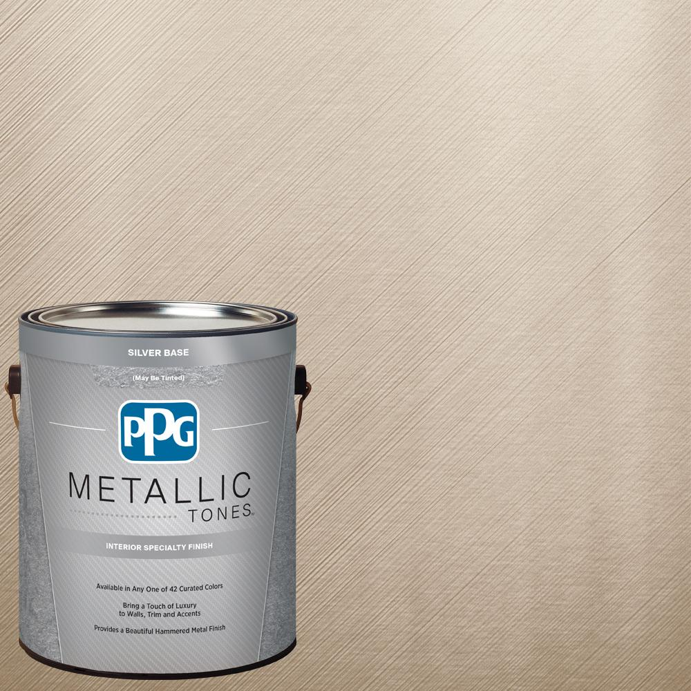 Ppg Metallic Tones 1 Gal Mtl131 Iridescent Oyster Metallic Interior Specialty Finish Paint