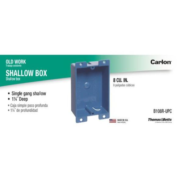 Carlon 1 Gang 8 Cu In Blue Pvc Flanged Shallow Old Work Electrical Outlet Box B108r Upc The Home Depot