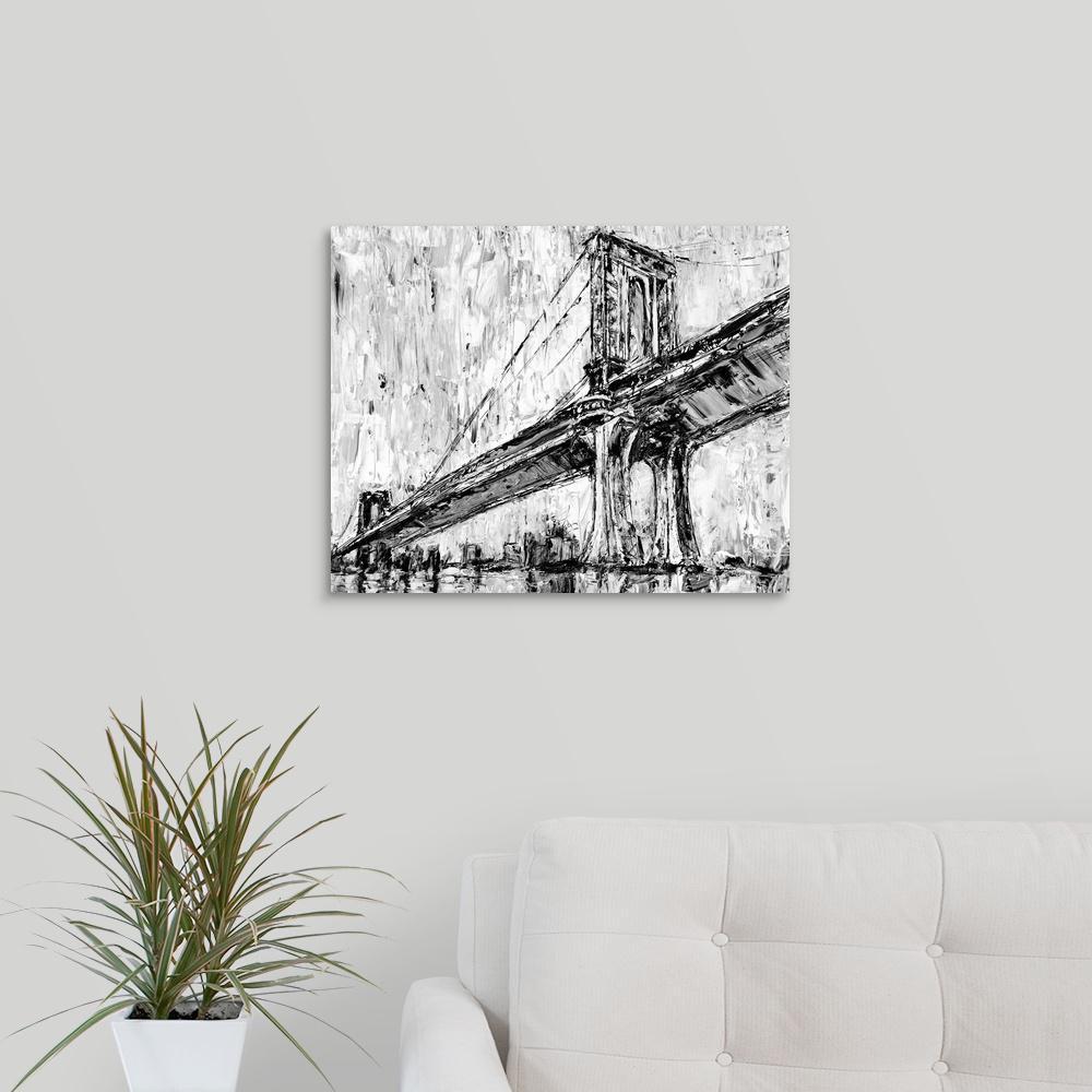 """Iconic Suspension Bridge I"" by  Ethan Harper Canvas Wall Art"